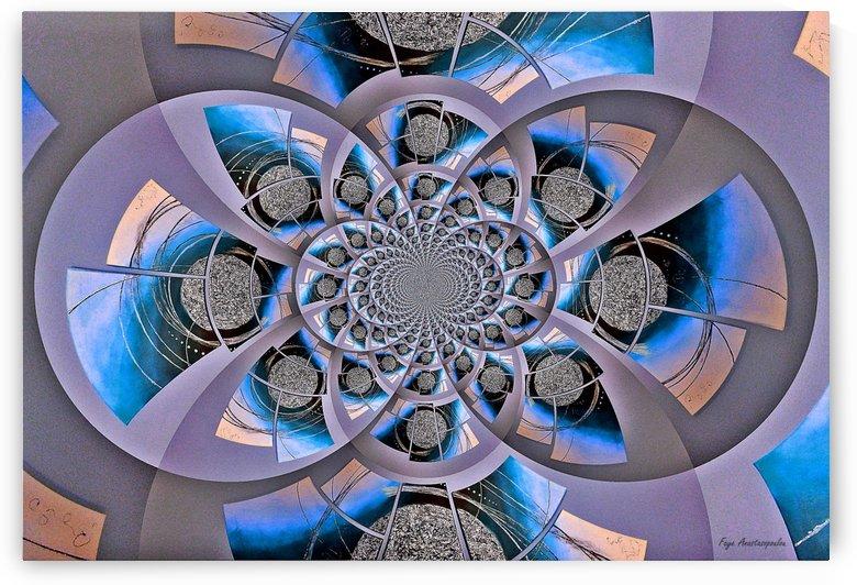 Mirror Infinity Azure by Faye Anastasopoulou