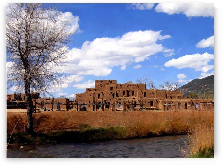 Taos Pueblo Early Spring by Kurt Van Wagner