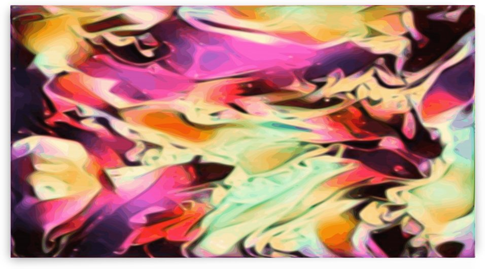 Rising Glow - multicolor swirls abstract wall art by Jaycrave Designs