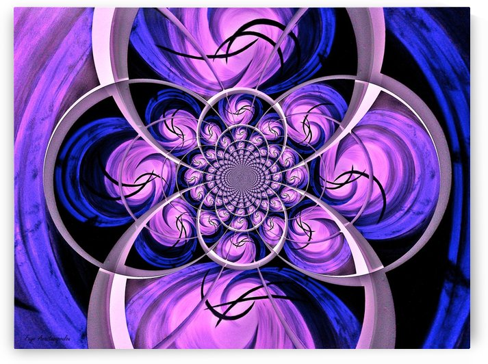 Ornament Vector Violet by Faye Anastasopoulou