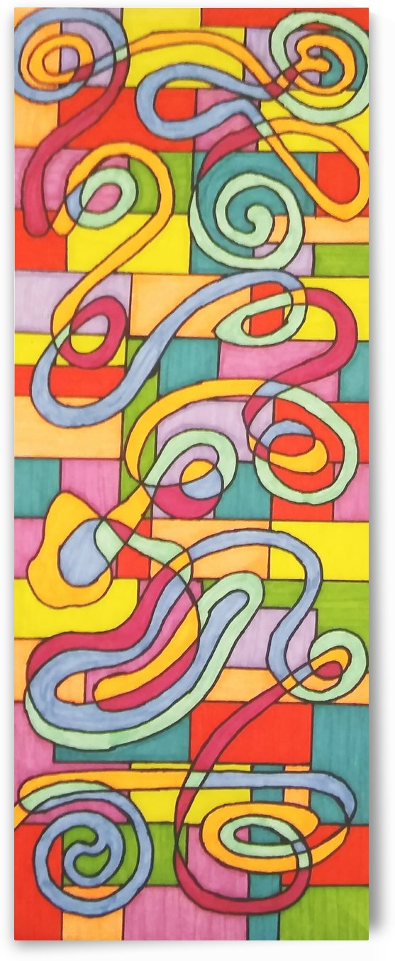 Trapped Colored Curve by SarahJo Hawes