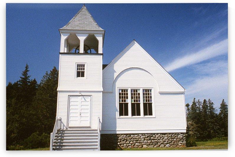 Matinicus Island Church - Maine by FoxHollowArt
