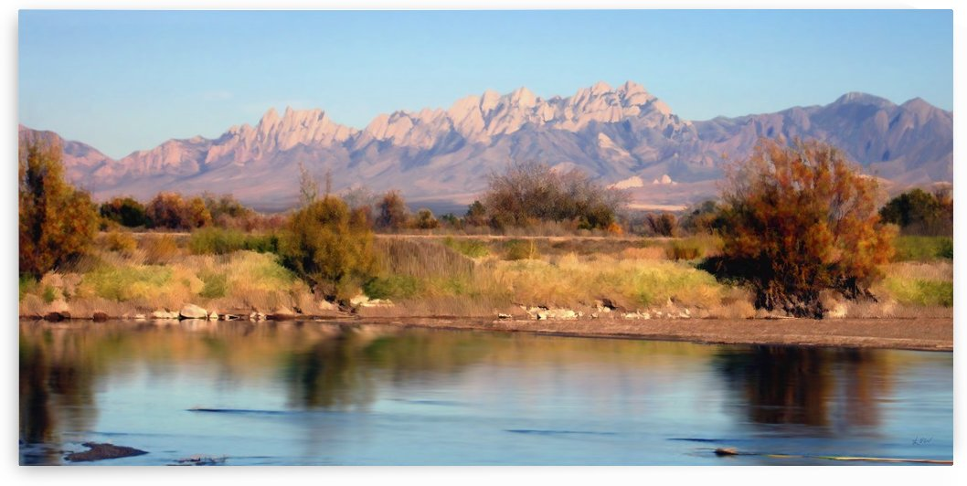 River View at Mesilla panorama by Kurt Van Wagner