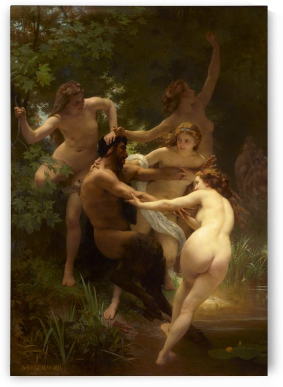 Nymphs and Satyr by William-Adolphe Bouguereau by xzendor7