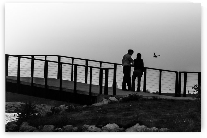 Evening Discussion. BW by Garald Horst