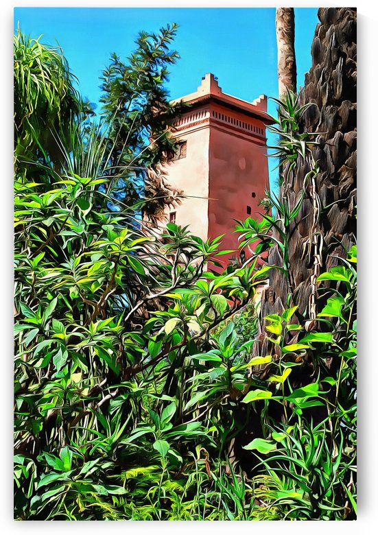 Tower At Jardin Majorelle Marrakech by Dorothy Berry-Lound