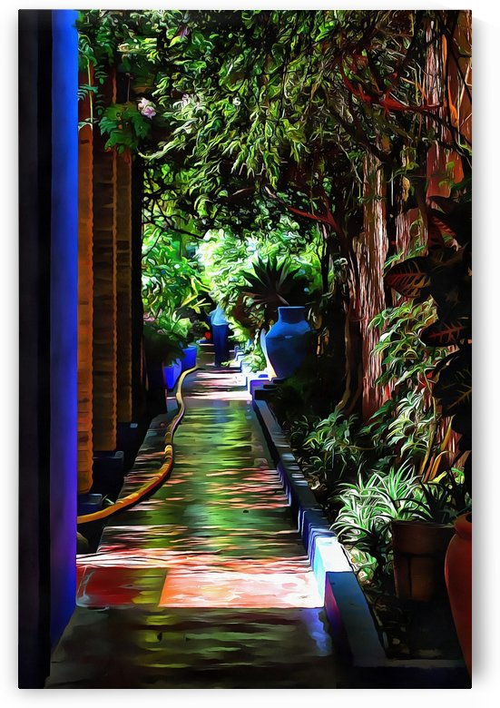 Dappled Shade Walkway Marrakech by Dorothy Berry-Lound