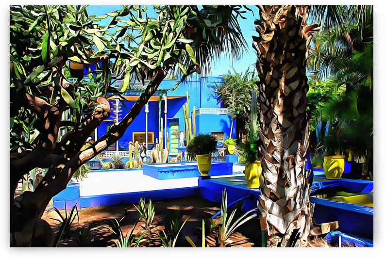 Yellow and Blue Contrasts Jardin Majorelle by Dorothy Berry-Lound