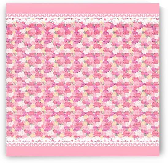peony pattern pink scrapbookin by Shamudy