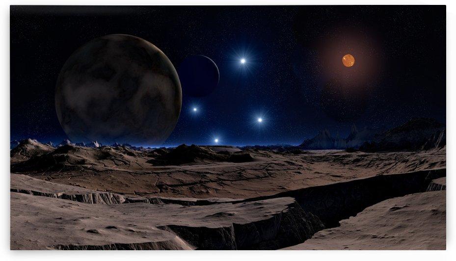 lunar landscape star brown dwarf by Shamudy