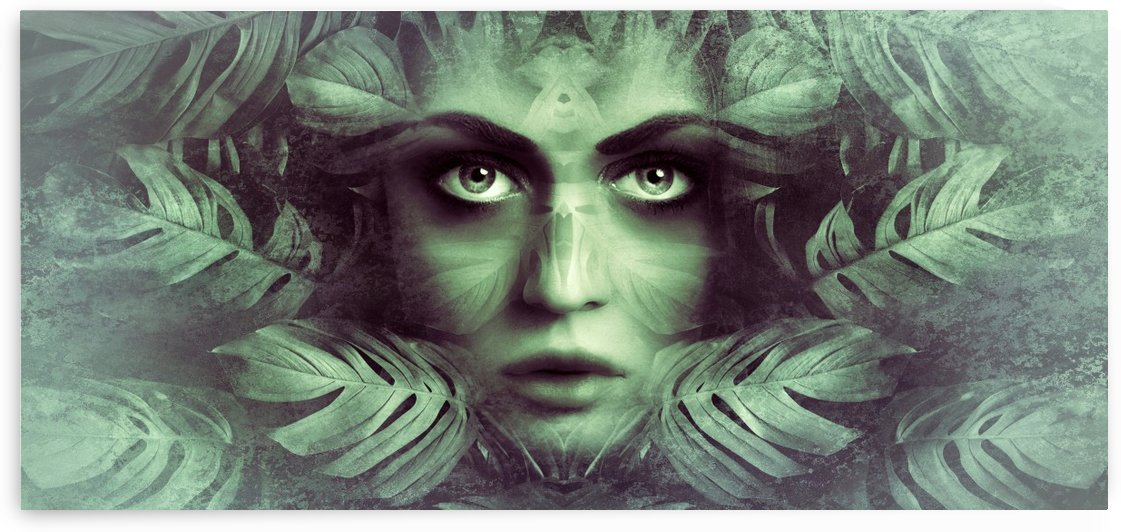 fantasy portrait woman mystical by Shamudy