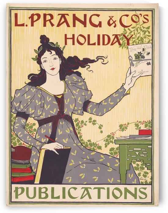 vintage lady poster 1894 magazine retro by Shamudy