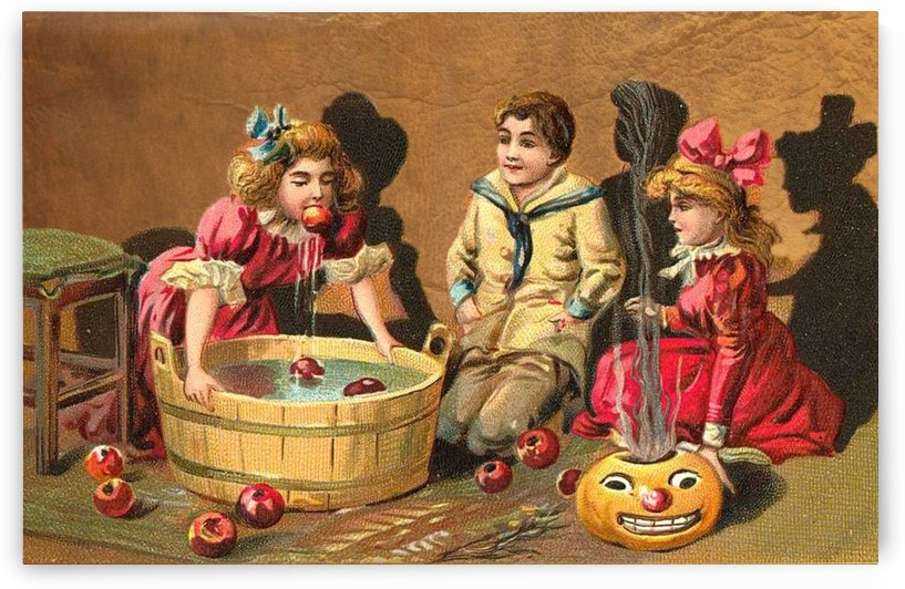 halloween vintage kids card happy by Shamudy