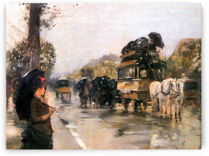 Champs Elysees Paris by Hassam by Hassam