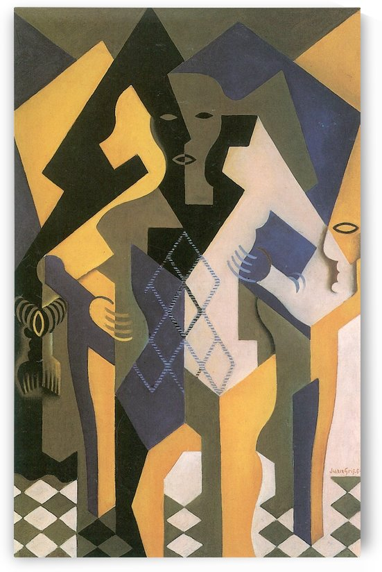 Harlequin with table by Juan Gris by Juan Gris