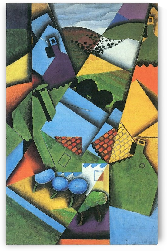 Landscape with houses in Ceret by Juan Gris by Juan Gris