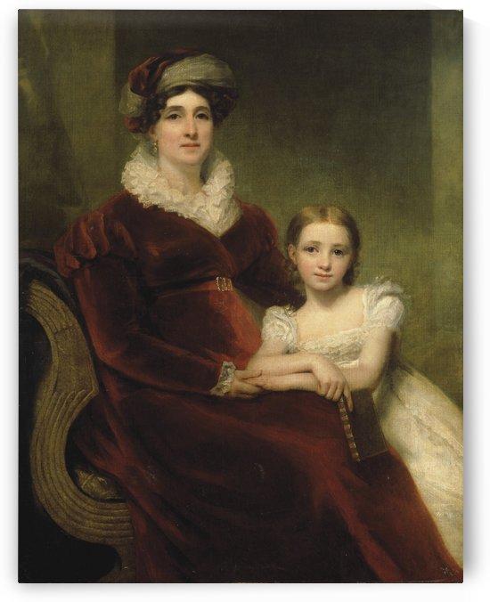 Mrs.Alexander Allan with her granddaughter by Henry Raebum
