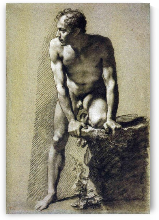 Male Nude by Pierre Paul Prudhon