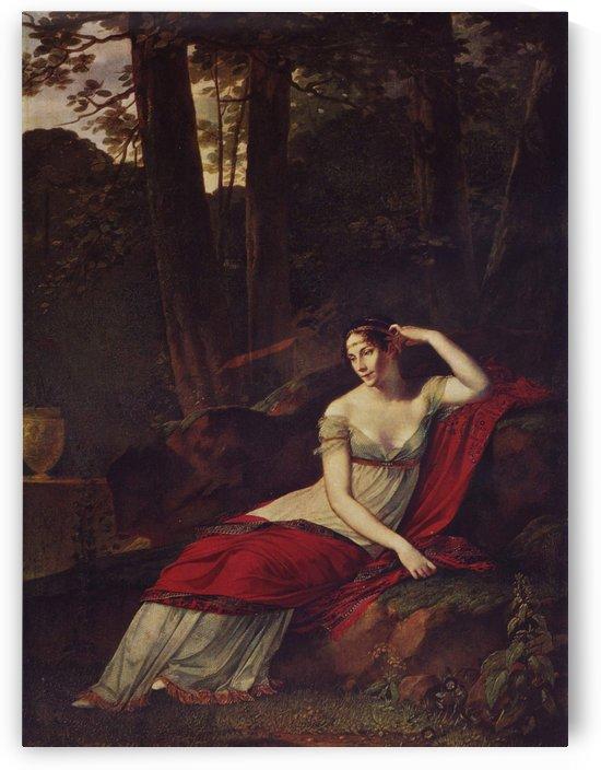 A sitting lady by Pierre Paul Prud-hon