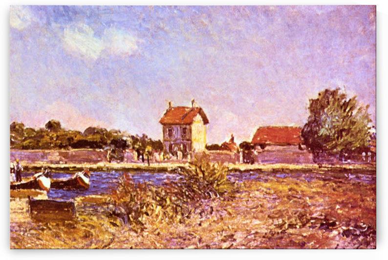 Saint-Mammes morning by Sisley by Sisley