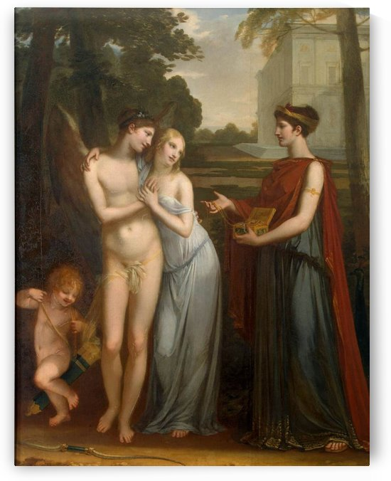 Innocence preferring love to wealth by Pierre Paul Prudhon