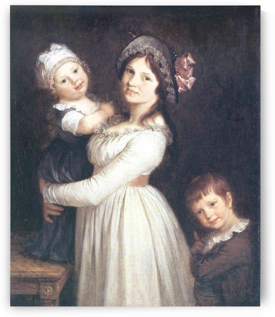 Madame Anthony and her children by Pierre Paul Prudhon