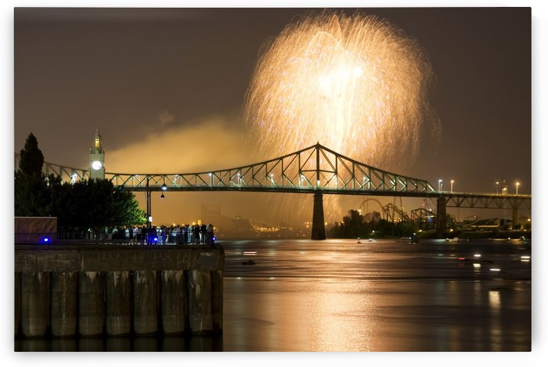 Fireworks in the old port of montreal by Atelier Knox