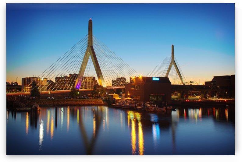 Boston bridge at night by Atelier Knox