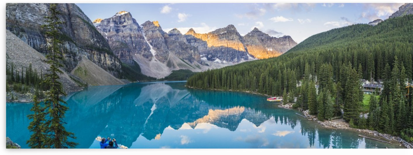 Lake Moraine at sunrise Banff Alberta Canada by Atelier Knox