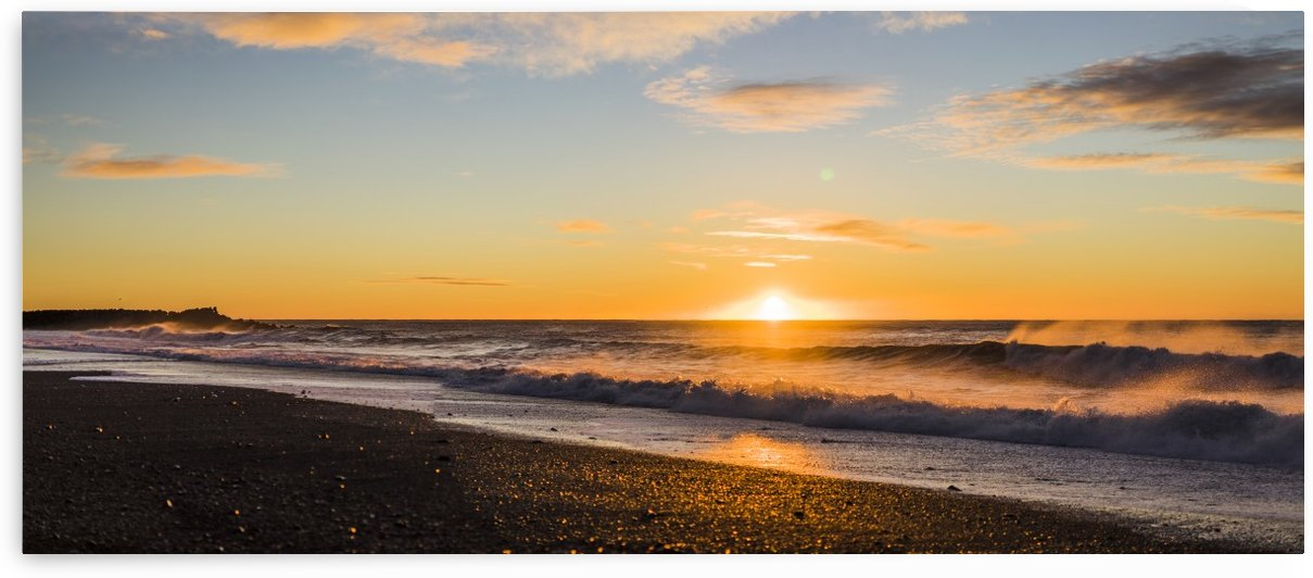 Icelandic beach sunset vik Iceland by Atelier Knox
