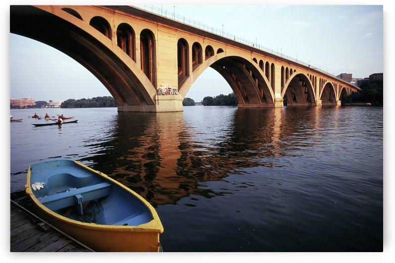 Old Georgetown key Bridge With Boat In Corner by Atelier Knox