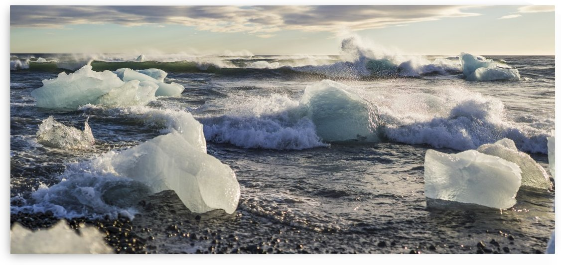 Ice bergs on Jokulsarlon beach Iceland by Atelier Knox