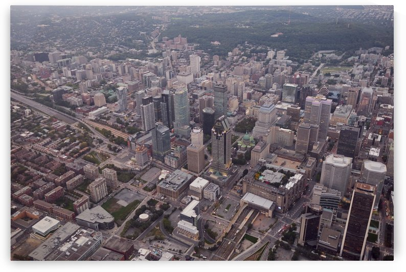 Montreal city from above by Atelier Knox