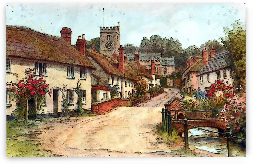 east budleigh devon uk vintage old by Shamudy