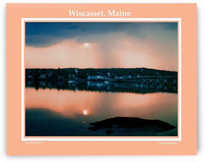 Wiscasset Maine by FoxHollowArt
