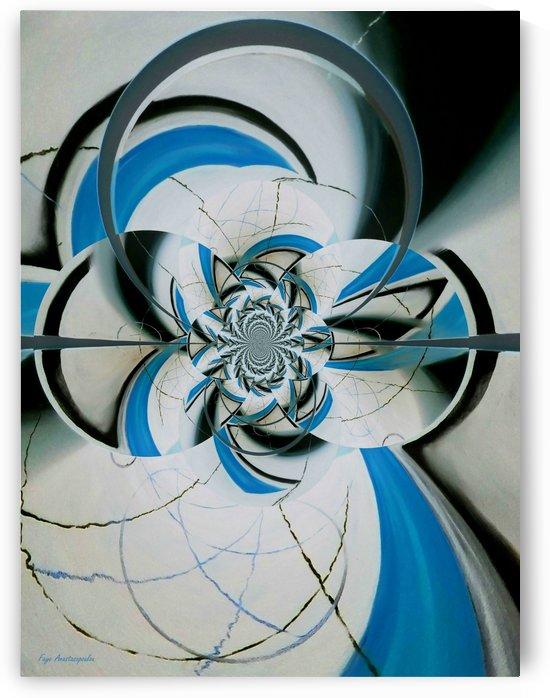 Broken Symmetry Azure by Faye Anastasopoulou