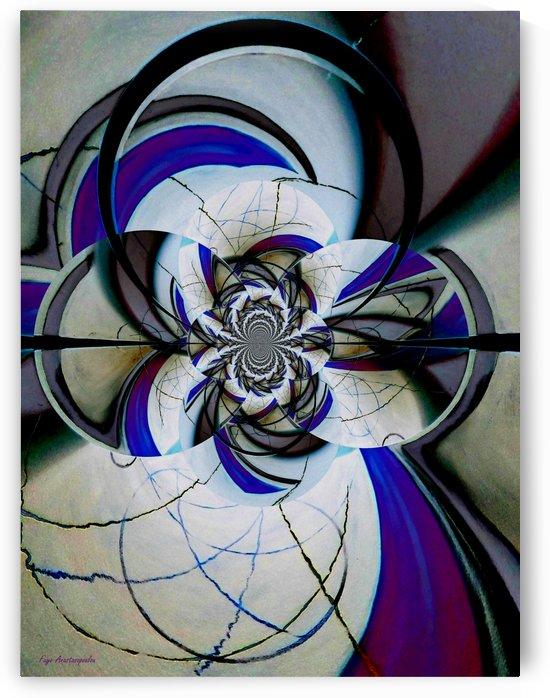 Broken Symmetry Lavender by Faye Anastasopoulou