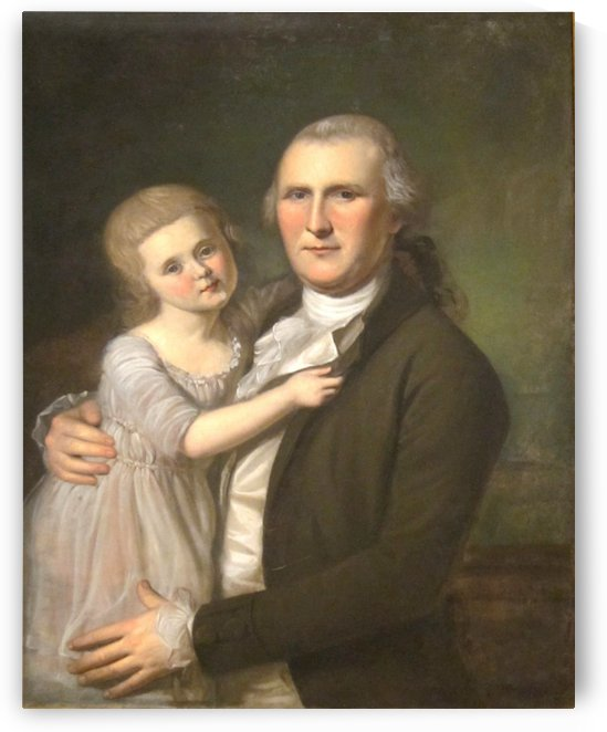 James Crawford and daughter by Charles Willson Peal
