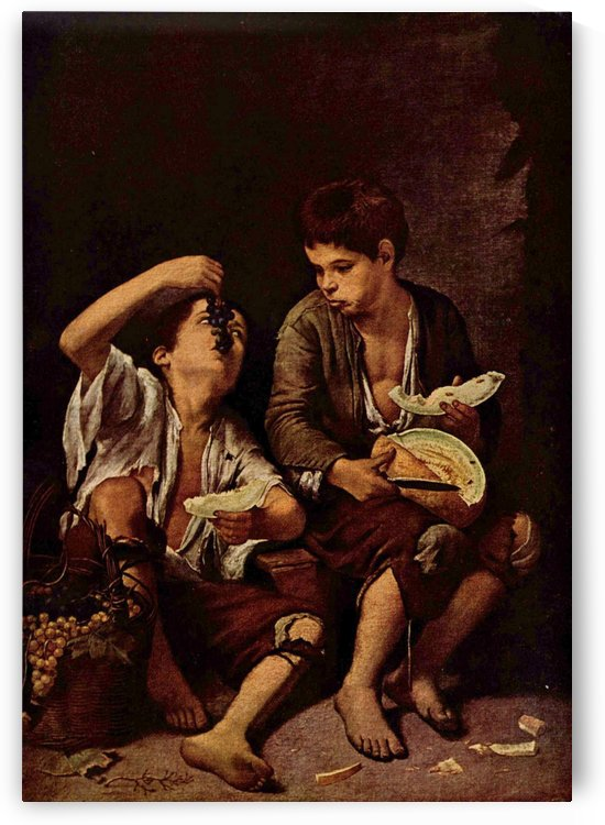Two boys by Bartolome Esteban Murillo