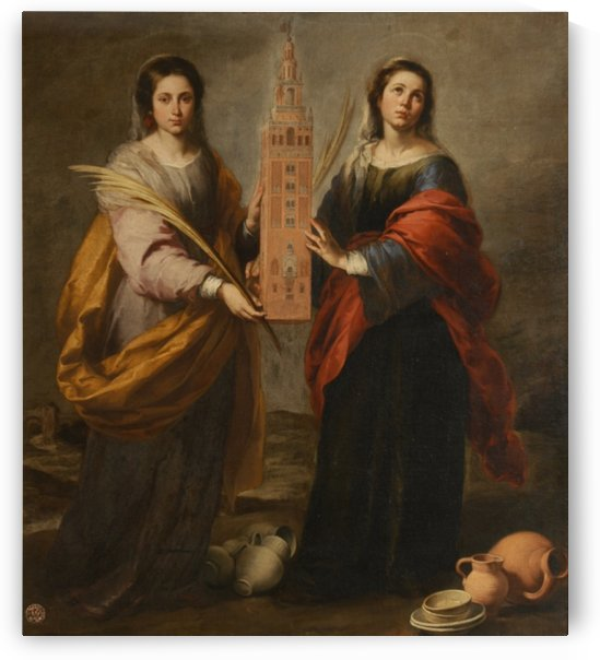 St Justina and St Rufina by Bartolome Esteban Murillo
