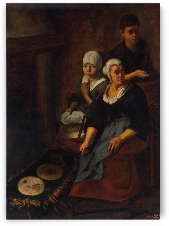Backing of flat cakes by Bartolome Esteban Murillo
