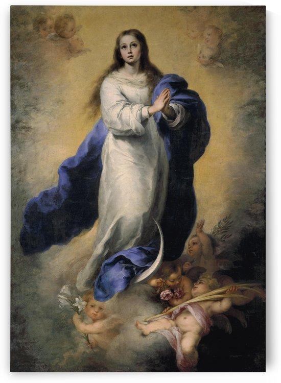 The Virgin praying by Bartolome Esteban Murillo