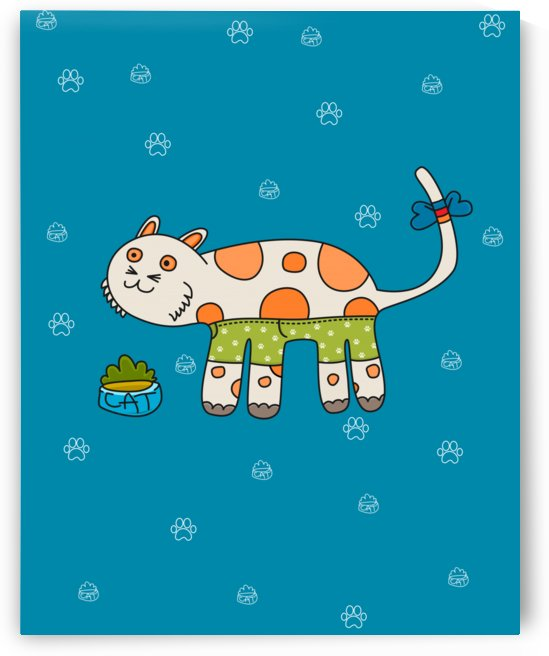 paint kitten cats cat cute paw by Shamudy