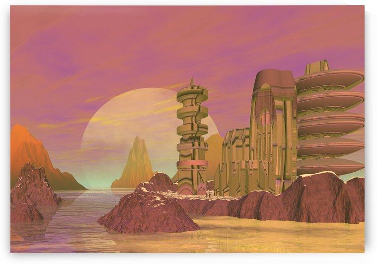 planet rocks city base fiction by Shamudy