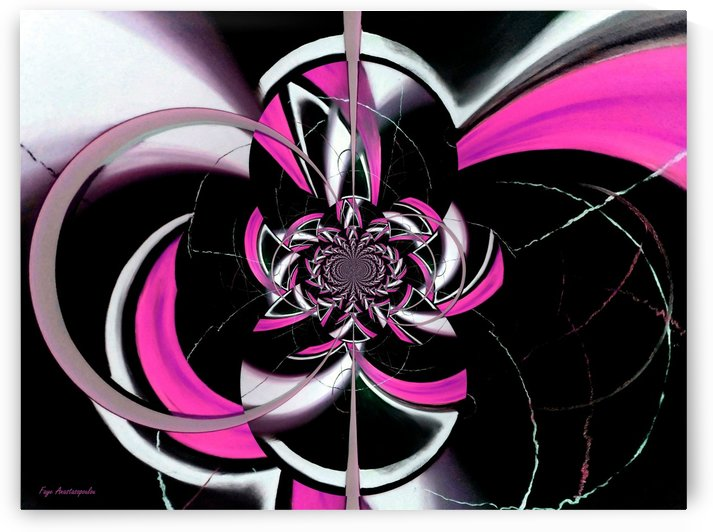 Dazzling Vector Pink by Faye Anastasopoulou