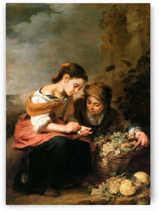 The little fruit seller by Bartolome Esteban Murillo