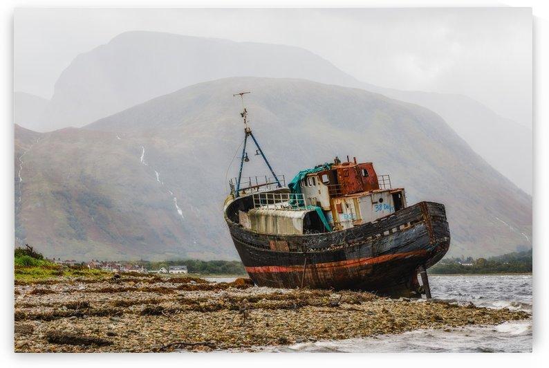 Corpach shipwreck ben nevis scotland by Robert Zahra