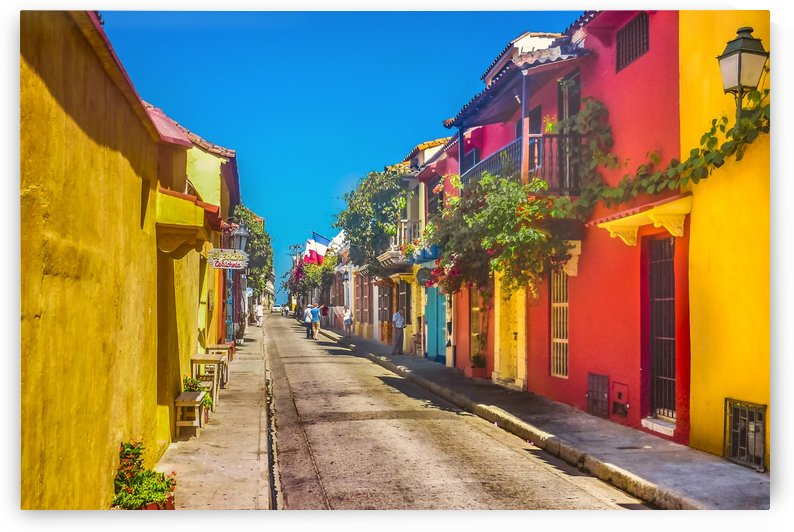 Traditional Street in Cartagena de Indias, Colombia by Daniel Ferreia Leites Ciccarino