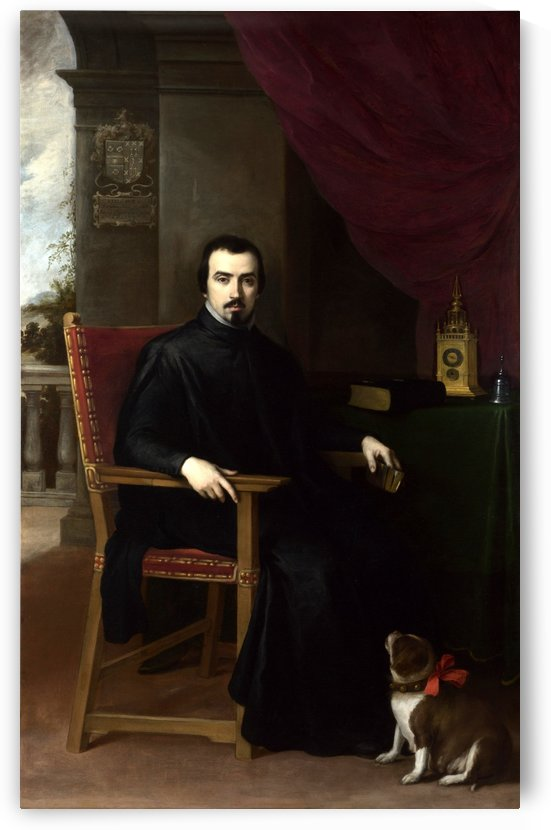Portrait of Don Justino by Bartolome Esteban Murillo
