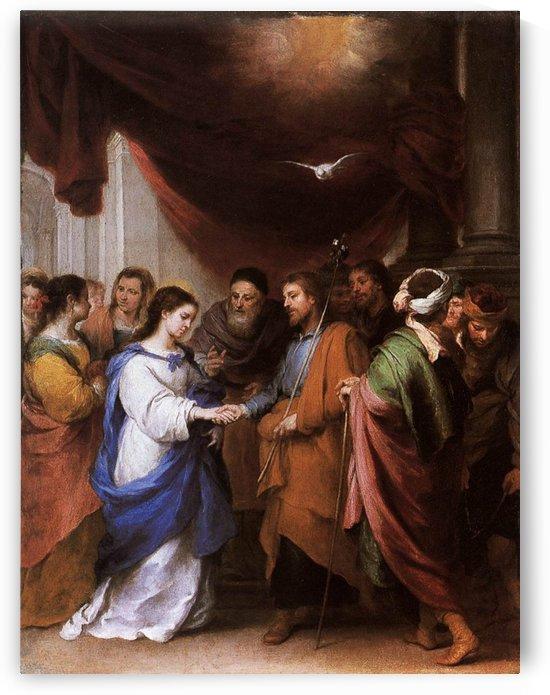 The marrige of the Virgin by Bartolome Esteban Murillo